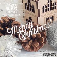 Чипборд ScrapBox - Надпись Merry Christmas! Hi-460