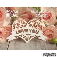 Чипборд ScrapBox - Сердце с лентой