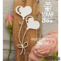 Чипборд ScrapBox - Воздушные шарики сердечки