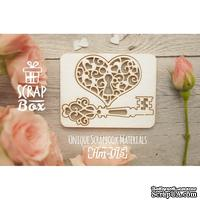 Чипборд ScrapBox - Сердце с замком и ключиком