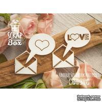 Чипборд ScrapBox - Конверт с сердечком
