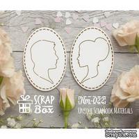 Чипборд ScrapBox - Силуэты женский и мужской №2
