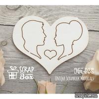 Чипборд ScrapBox - Силуэты в сердце №1