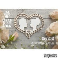 Чипборд ScrapBox - Силуэты в сердце №2