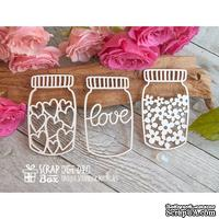 Чипборд ScrapBox - баночки с любовью Hm-041