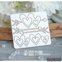 Чипборд ScrapBox - набор сердечек Hm-045