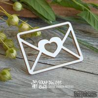 Чипборд ScrapBox - Письмо с сердечком Hm-049