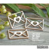 Чипборд ScrapBox - Письмо с сердечком 3 шт Hm-050