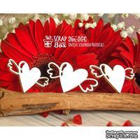 Чипборд ScrapBox - Сердечки с крылышками (3шт) Hm-054