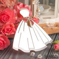 Чипборд ScrapBox - свадебное платье с бантом Hm-082