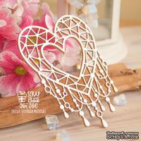 Чипборд ScrapBox - сердце с бусинами Hm-084