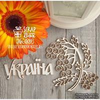 Чипборд ScrapBox - Україна с веточкой рябины Hn-009