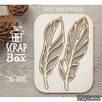 Чипборд ScrapBox - Набор Птичьи перья №3