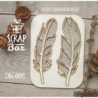 Чипборд ScrapBox - Набор Птичьи перья №4