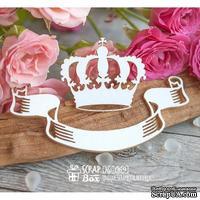 Чипборд ScrapBox - корона с лентой Ho-069