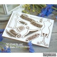 Чипборд ScrapBox - Набор швейный малый с манекеном Ho-090