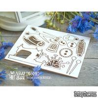 Чипборд ScrapBox - Набор швейный малый со швейной машинкой Ho-091