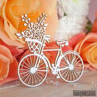 Чипборд ScrapBox - Велосипед с корзиной цветов Ho-109