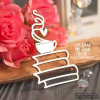 Чипборд ScrapBox - чашка кофе на книгах Ho-146