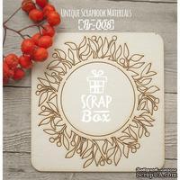 Чипборд ScrapBox - Рамка круглая Лиственный орнамент