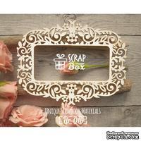Чипборд ScrapBox - Рамка Растительный орнамент с цветами