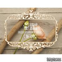 Чипборд ScrapBox - Рамка тонкая Растительный орнамент