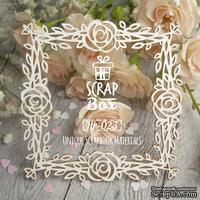Чипборд ScrapBox - Рамка квадратная Розы