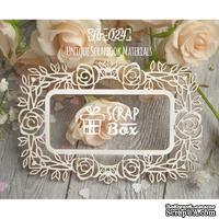 Чипборд ScrapBox - Рамка прямоугольная Розы