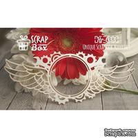 Чипборд ScrapBox - Рамка с крыльями Стимпанк №1