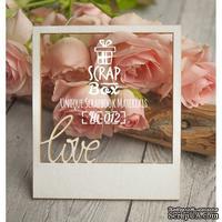 Чипборд ScrapBox - Слайд с надписью Love
