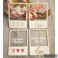 Чипборд ScrapBox - Для вышивки слайды Love №1
