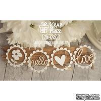 Чипборд ScrapBox - 4 элемента с любовью