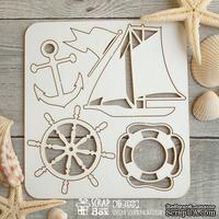 Чипборд ScrapBox - набор Малый Корабельный