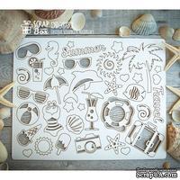 Чипборд ScrapBox - набор Пляжный