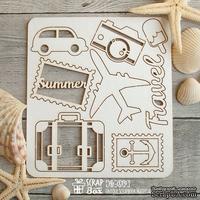 Чипборд ScrapBox - набор малый Путешествие