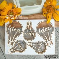 Чипборд ScrapBox - набор лампочек Idea