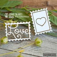 Чипборд ScrapBox - Марки Love Ht-062