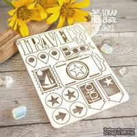 Чипборд ScrapBox - Набор Travel Book Ht-067