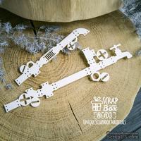 Чипборд ScrapBox - Бордюр трубы (2шт) Ht-103