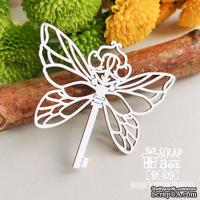 Чипборд ScrapBox - Ключ с крылышками бабочки Ht-109