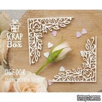 Чипборд ScrapBox - Уголки Розы №2