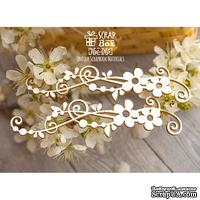 Чипборд ScrapBox - Бордюр цветочный с завитками 2 шт. Hw-015