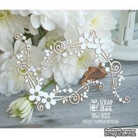 Чипборд ScrapBox - цветочные уголки с завитками Hw-023