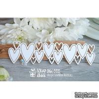 Чипборд ScrapBox - бордюр из сердечек Hw-032
