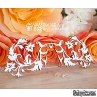 Чипборд ScrapBox - Бордюр с цветами и листиками Hw-043
