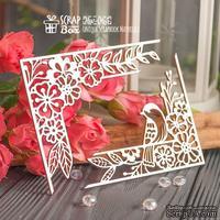 Чипборд ScrapBox - уголки с птичкой и цветами 2шт Hw-065