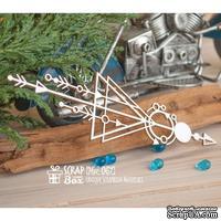Чипборд ScrapBox - геометрический бордюр треугольник со стрелками №1 Hw-067
