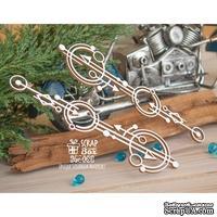 Чипборд ScrapBox - геометрический бордюр круги со стрелочками 2 шт Hw-069