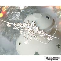 Чипборд ScrapBox - Бордюр с остролистом и звездами Hw-082
