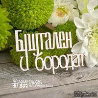 Чипборд ScrapBox - Надпись Брутален и бородат Hy-026